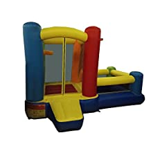 KINDAFLY Buddy Children Bouncy Castle Bounce House - Inflatable Castle Theme Bouncing Jump & Slide without Blower