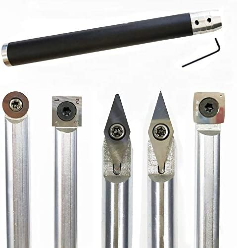 XLEIYI ツールチゼル変更可能なタングステン、チタンヒント旋盤工具インサートカッター缶マッチアルミHadle木工ツールをオンウッド (Insert Width(mm) : D)