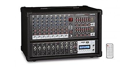 Fonestar sma-208rub 8 canales 20 – 20000 Hz negro mesa de mezclas ...