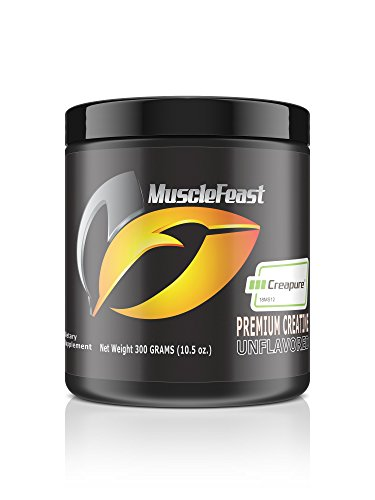 Creapure Creatine Monohydrate Powder - by Muscle Feast | Premium Pre-workout or Post-workout | Easy to Mix And Gluten-Free (300g, Unflavored) (Super Creatine Powder)