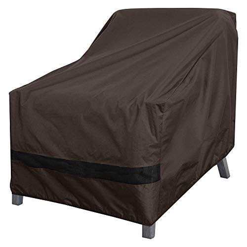 Dallas Club Chair - True Guard Patio Furniture Covers Waterproof Heavy Duty - Club Chair Cover, 600D Rip-Stop, Fade/Stain/UV Resistant for Outdoor Patio Furniture, Dark Brown