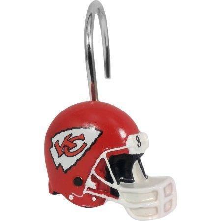 NFL Kansas City Chiefs Shower Curtain Hooks 12 Piece Set by The Northwest Company