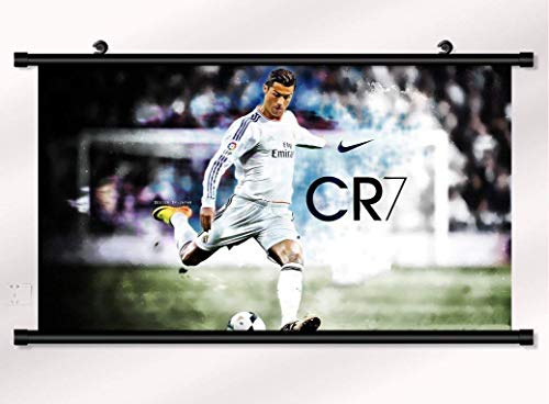 Cristiano Ronaldo poster with wall scroll 22 inch x 16 inch - Scroll Cristiano