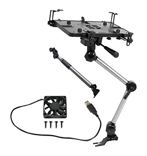 Mobotron MS-426-B Vehicle Laptop Mount Plus Screen Stabilizer Plus Cooling Fan Plus Supporting Brace by Mobotron