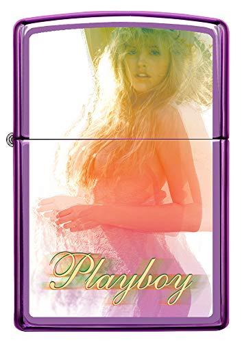Zippo Playboy Cover August 1982 Pocket Lighter, Satin Chrome