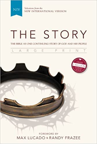 NIV, The Story, Large Print, Hardcover: The Bible as One ...