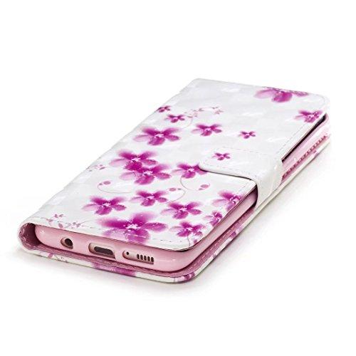 COWX Samsung Galaxy S8 Hülle Tasche Handyhalter PU Lederhülle für Samsung Galaxy S8 Tasche Brieftasche Schutzhülle Cherry blossoms CkanHQGZ