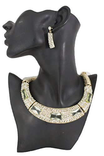 TFJ Women Fashion Short Choker Necklace Thick Gold Metal Silver Multi Beads Bulky Jewelry + (90s Tv Shows Halloween Costumes)