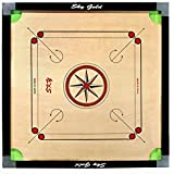 S.R Traders Sky Full size(Large) 32' Inches Cut Pocket Carrom Board with Free COINS, STRIKER & CARROM POWDER ((Free Of Cost))