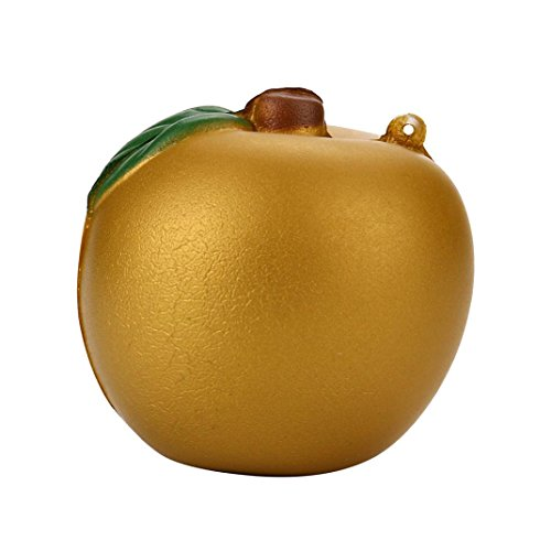 Roysberry - Jumbo Slow Rising Cream Golden Apple, Cute Stress Relief Toys Ball Super Soft Kawaii Scented Decoration Toys Stress Ball for Adults Jumbo Simulated Fruit 3D Puzzle Toys for Kids ()