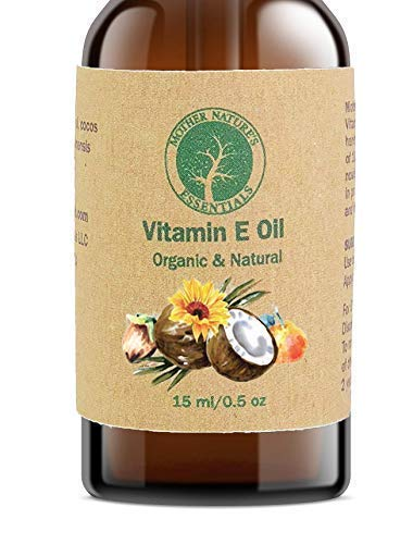 100% Organic & Natural Highest Quality USDA Organic Vitamin E Oil (d-alpha-tocopherol) + Organic Coconut Oil + USDA Organic Jojoba + 100% Natural Vitamin C. Free of Soy/Wheat/Rice Bran, 15ml