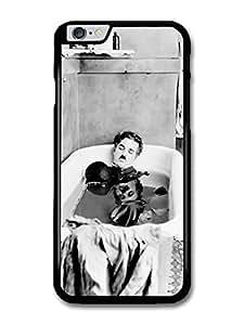 "AMAF ? Accessories Charlie Chaplin Having Bath Black & White case for iPhone 6 Plus (5.5"")"