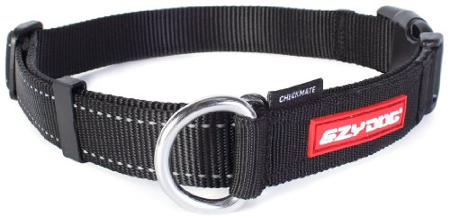 EzyDog Checkmate Collar, Extra Large, Black