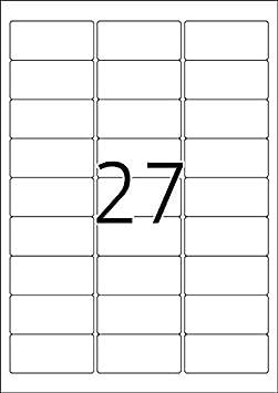HERMA 63,5 x 29,6 mm Etichette adesive rimovibili colore: Bianco 2700 unit/à