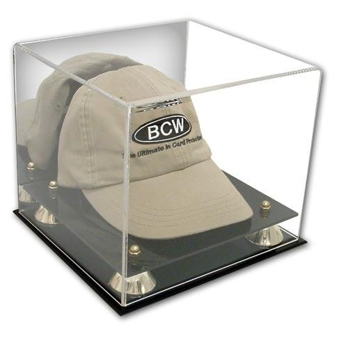 Case Hat Cap Display (Collectible Deluxe UV Acrylic Cap Baseball Hat Display Case - With Mirror)