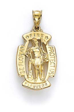 14 Carats Pendentif St JewelryWeb Florian