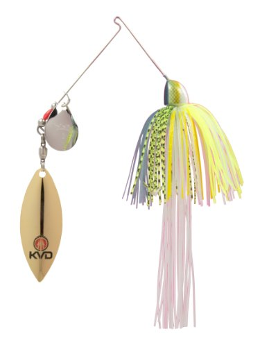 Strike King Finesse KVD Spinnerbait, Chartreuse Sexy Shad, 3/8-Ounce