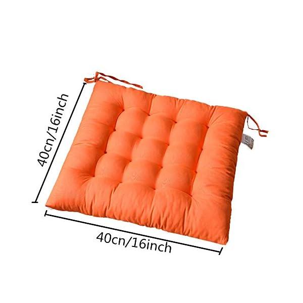 AGDLLYD Cuscino per Sedia, Cuscini per Giardino, per Dentro o Fuori,40x40x5 cm Cuscini da Sedia Trapuntati,Disponibile… 2 spesavip