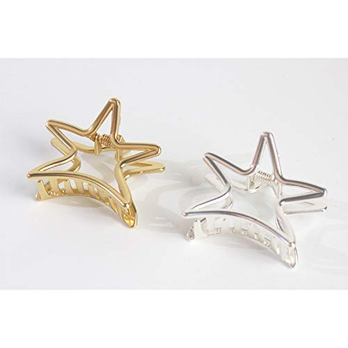 Weimay Hairpin Five-Pointed Star Shape Ponytail Clip Hollow Alloy Women Hairpin Hair Accessories by Weimay (Image #2)