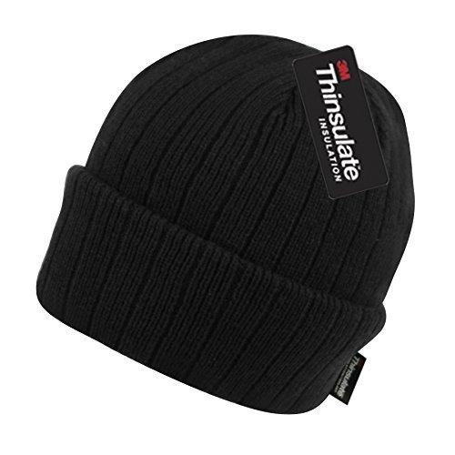6c34f8a929246 Thinsulate BN2388 Winter Hats 40 Gram Insulated Cuffed Winter Hat (Black)