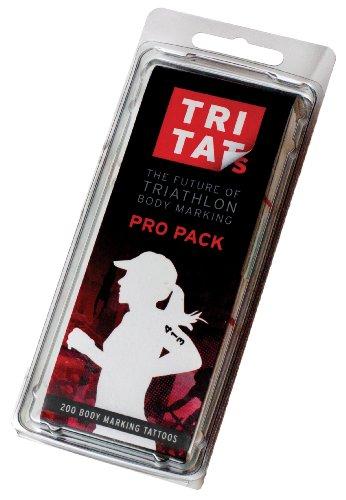 Tritats Pro Tattoo, Pack of 200 (Blue, 2-Inch)