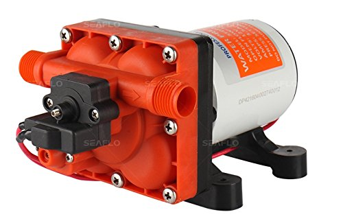 Seaflo 42-Series Water Pressure Diaphragm Pump w/Variable Flow For Reduced Cycling - 12V, 4.0GPM, 55PSI by Seaflo