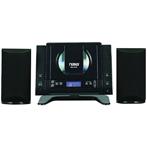 NAXA Electronics NS-439 Digital CD Microsystem with Bluetooth, (Best Naxa Electronics Speaker Stands)