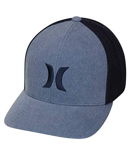 Hurley Men's Icon Textures Snapback Baseball Cap, Armory Navy, L-XL ()