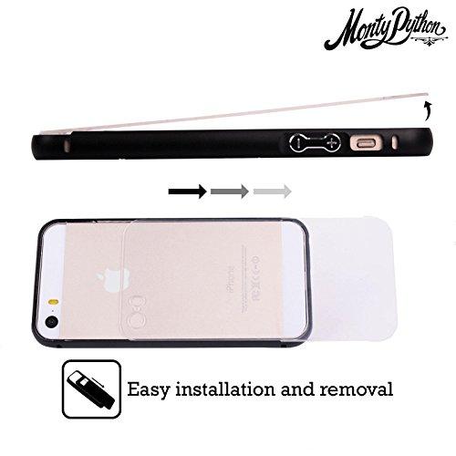 Officiel Monty Python Bête Noire d'Aaarrrgh Art Clé Noir Étui Coque Aluminium Bumper Slider pour Apple iPhone 6 Plus / 6s Plus