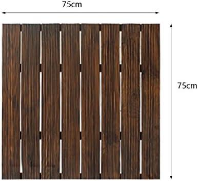 piso Suelo de madera, patio al aire libre jardín Terraza anti-corrosión de madera maciza suelo de bricolaje, suelo de madera maciza autopegada piso balcón interior Baño de madera suelo de costura antideslizante