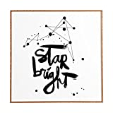 Deny Designs Kal Barteski,  Star Bright, Framed Wall Art, Small, 12''x 12''
