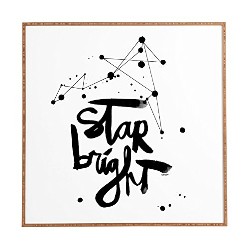 Deny Designs Kal Barteski,  Star Bright, Framed Wall Art, Small, 12''x 12'' by Deny Designs