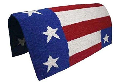 Derby Originals Patriotic Flag Acrylic Saddle Blanket, Red/White/Blue -