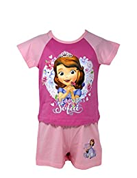 Officially Certified Sofia the First Girl's Kid's Shirt & Shorts Set Pyjama Set (3 - 4 years)