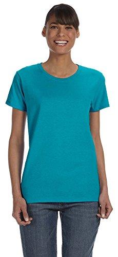 Gildan Heavy Cotton Ladies 5.3 oz. Missy Fit T-Shirt, 3XL, TROPICAL BLUE