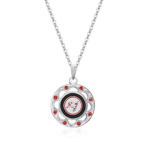 NFL Tampa Bay Buccaneers Circle Pendant Logo Necklace