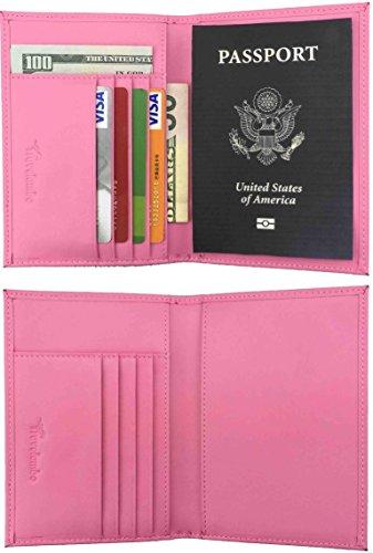 Travelambo RFID Blocking Genuine Leather Passport