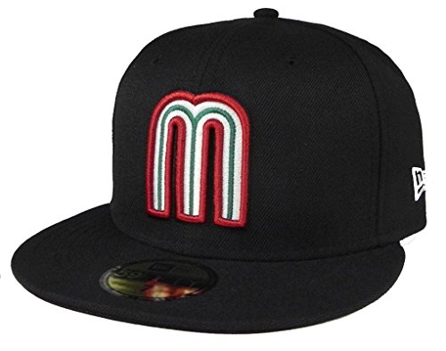 (New Era Mexico Fitted Hat World Baseball Classic Cap 59FIFTY WBC Black Mexico (7) - 7)