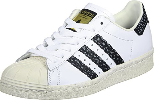 adidas Originals Superstar 80s Mens Trainers Sneakers (UK 9 US 9.5 EU 43 1/3, White Green White - Uk Cheap Adidas
