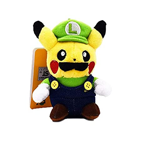 Moonyue 12cm Super Mario Bros Pikachu Peluche Lindo Pikachu ...