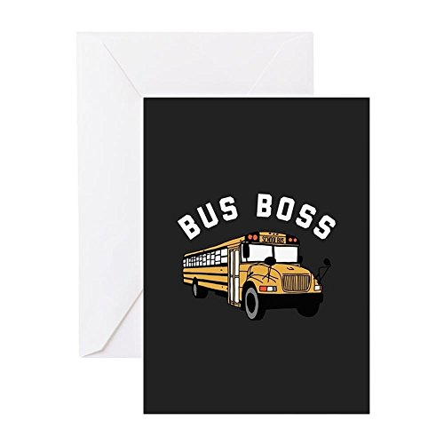 Cards Note Driver - CafePress - Bus Boss Greeting Cards - Greeting Card, Note Card, Birthday Card, Blank Inside Matte