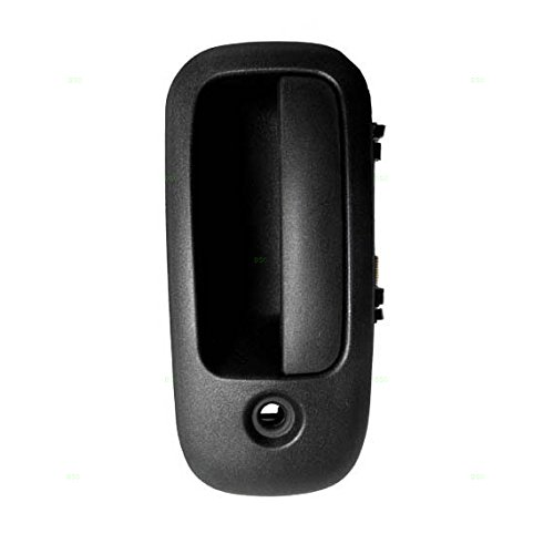 Drivers Front Outside Outer Textured Door Handle Replacement for GMC Chevrolet Van 10359094
