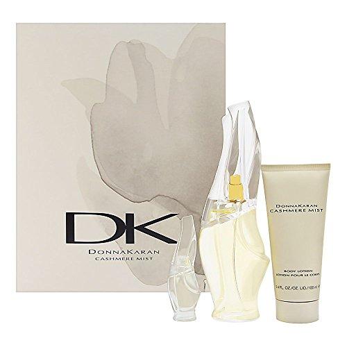 Cashmere Mist by Donna Karan for Women 3 Piece Set Includes: 3.4 oz Eau de Parfum Spray + 0.17 Eau de Parfum Collectible + 3.4 oz Body (Eau De Parfum Body Lotion)