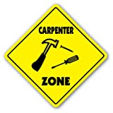 CARPENTER ZONE Sign xing gift novelty hammer build house nails board wood