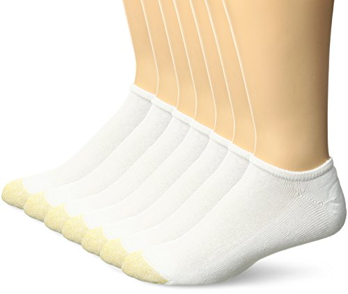 - Gold Toe Men's Cushioned Cotton Liner 7-Pack, White, Sock Size:10-13/Shoe Size: 6-12