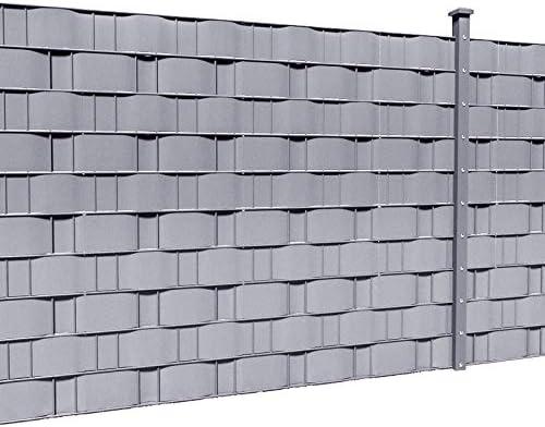Sailun - Valla de privacidad de PVC para valla de jardín, balcón, terraza, doble barra lateral con clips de montaje: Amazon.es: Jardín