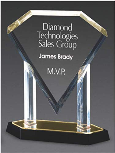 Blue Diamond in A Cradle Award (Diamond Award Acrylic Beveled)