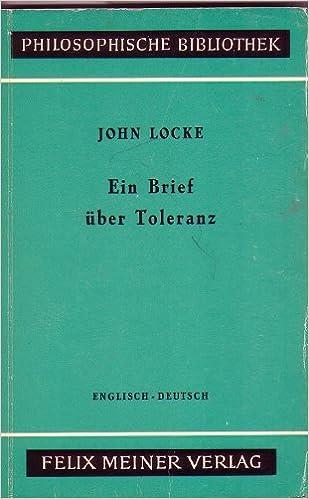 Ein Brief über Toleranzenglisch Deutsch Amazonde John Locke