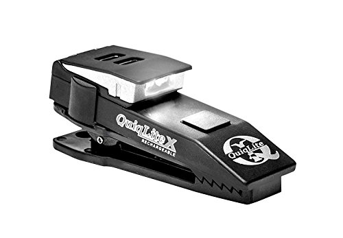 QuiqLiteX Hands Free Pocket Concealable Flashlight / Dual White LED's, 20 up to 150 Lumens