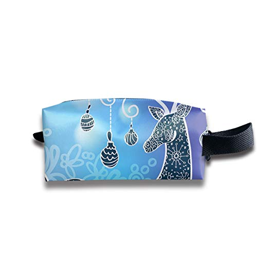Durable Zipper Storage Bag Makeup Handbag Line Deer Toiletry Bag With Wrist -